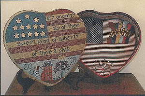 click here to view larger image of Liberty Tin Sewing Box (counted cross stitch kit)
