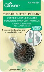 click here to view larger image of Thread Cutter Pendant, Clover - Ant Silver (accessory)