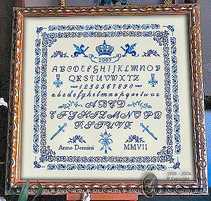 click here to view larger image of Royal Blue Sampler (chart)